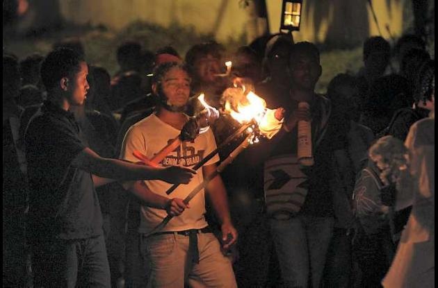Marcha de las antorchas en Cartagena Estudiantes