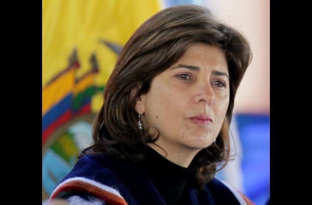 María Angela Holguín, canciller de Colombia.