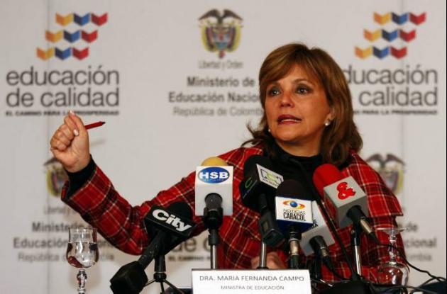 María Fernanda Campo, ministra de Educación