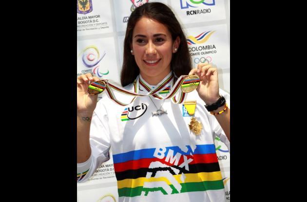 Mariana Pajón  ya cuenta en su haber con 14 títulos