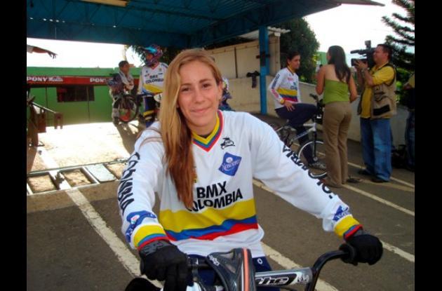 La colombiana Mariana Pajón Londoño, 19 años, es desde el martes la líder de la