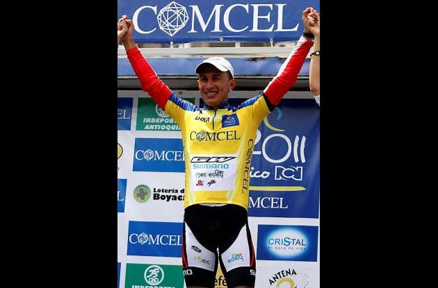 El ciclista colombiano Marlon Pérez.