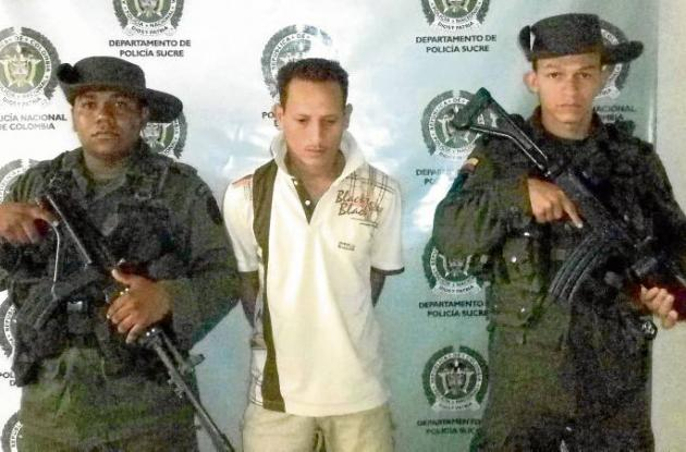 John Alexander Arboleda Pérez, capturado.