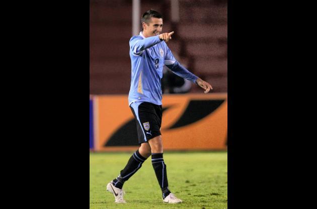 Matías Vecino, autor del gol de Uruguay sobre Argentina