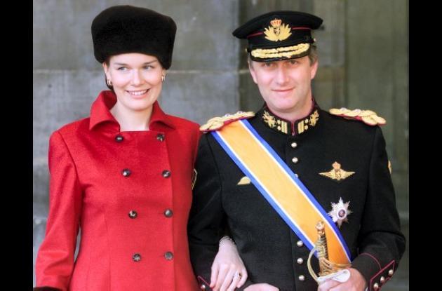La princesa Matilde y el príncipe Felipe de Bélgica