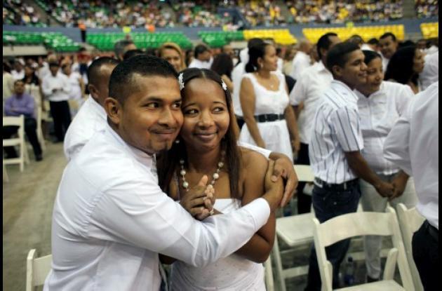 Matrimonios colectivos en Panamá.