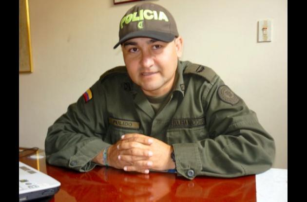 Jorge Alexander Pulido, mayor de la Policía.