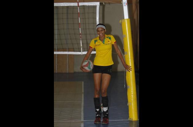 Melissa Rangel, destacada jugadora de voleibol.
