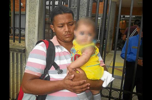 Jaider Arrieta Reyes, padre del niño