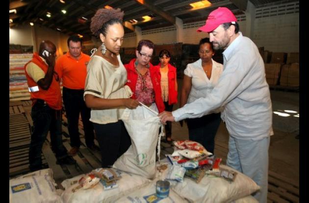 Fondo Nacional de Calamidades inspeccionó mercados sobrantes.
