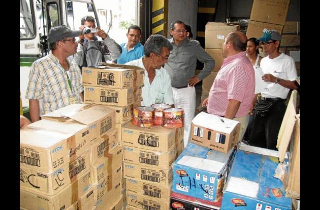 materiales donados por  la Dirección de Impuestos y Aduanas Nacionales