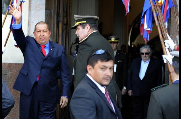 El presidente Hugo Chávez en la reunión de la Mercosur.