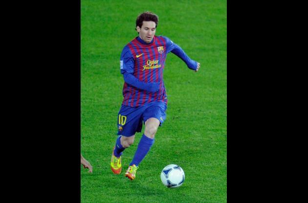 Lionel Messi, jugador del Barcelona de España.