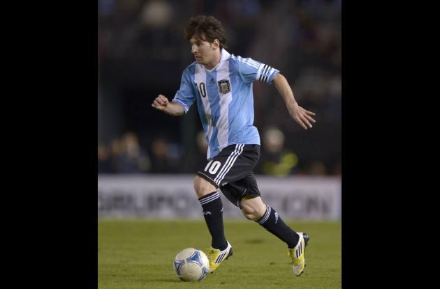 Lionel Messi, volante de Argentina.