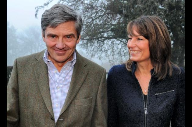 Michael y Carole Middleton, padres de Kate Middleton.
