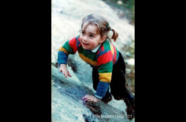 Kate Middleton a los tres años.
