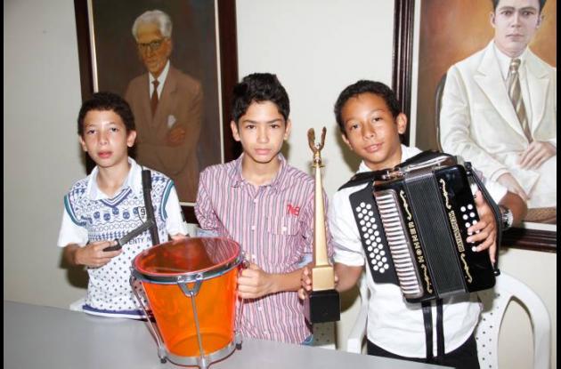 Miguel López, Wilson Puello Y Brayan López, segundo puesto en Festival de Acorde