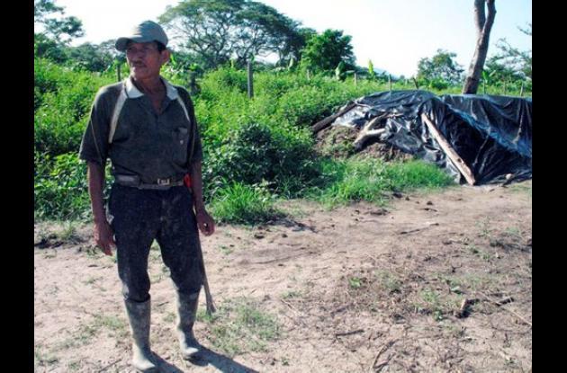 Misael Payares es el líder de las 123 familias campesinas que fueron desalojadas