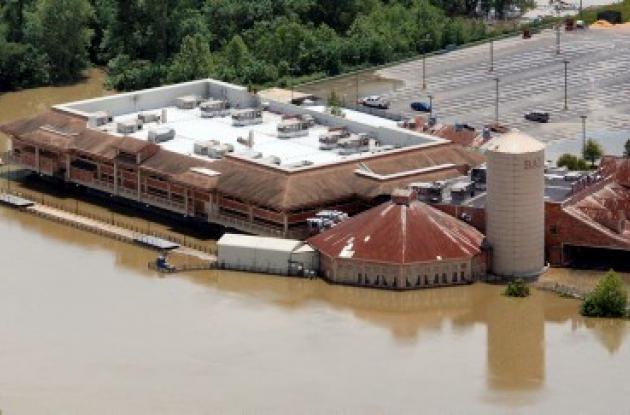 El río Mississippi se volvió seis veces más ancho de lo que estaba.