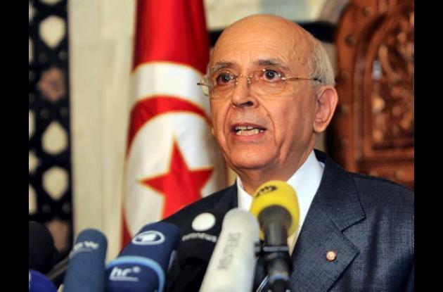 Mohamed Ghannouchi, primer ministro de Tunez