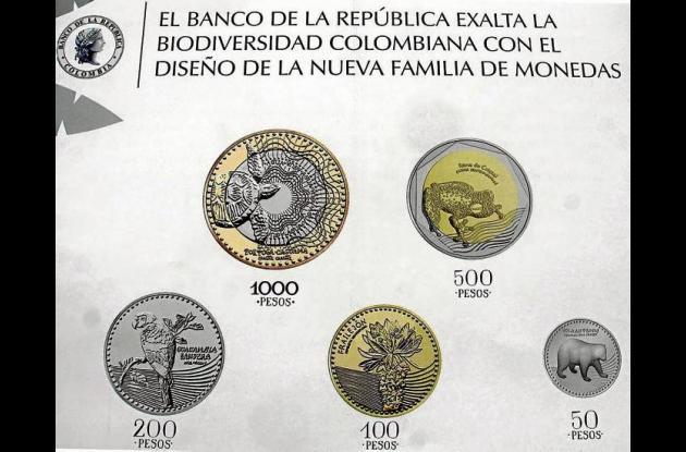 Diseño de las monedas que entran en circulación.