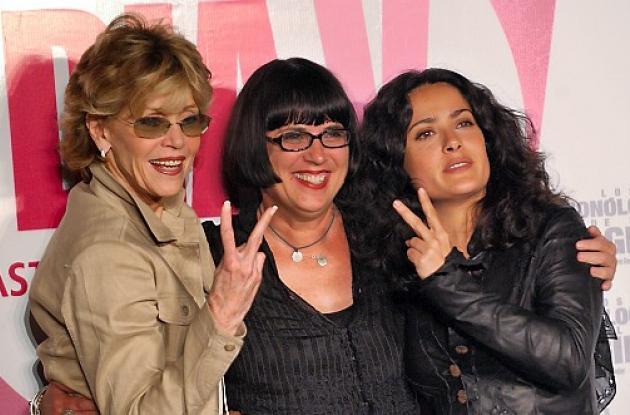 Jane Fonda, Eve Ensler y  Salma Hayek.
