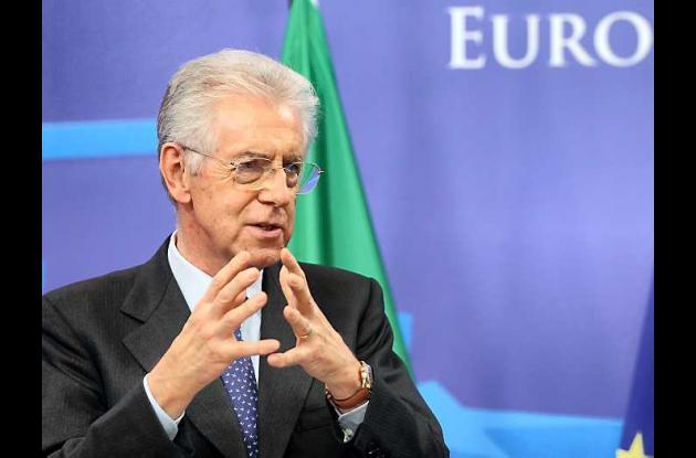 El jefe de Gobierno italiano Mario Monti.