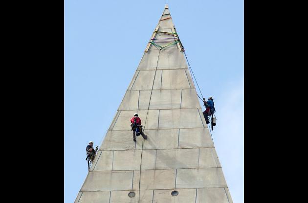 Comienza reparación al monumento a Washington.