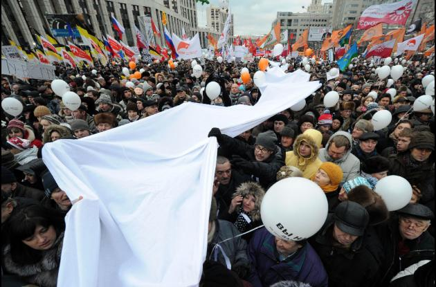 Protestas en Rusia contra Putín