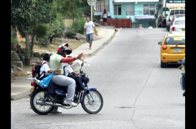 Motos, peligro para niños