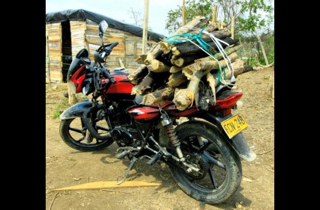 Motos desplazan a los burros