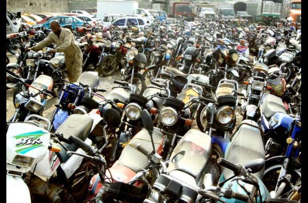 Motocicletas inmovilizadas en Cartagena