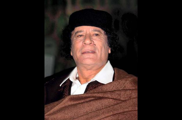 Muamar al Gadafi, ex líder libio.