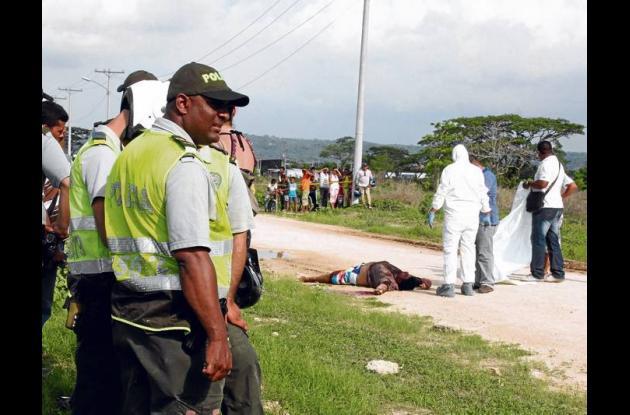 El comerciante Carlos Augusto Suárez Simancas fue asesinado en la entrada el b