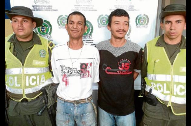 Robinson Ramiro Safra y Carlos Andrés Carrasquilla, capturados.