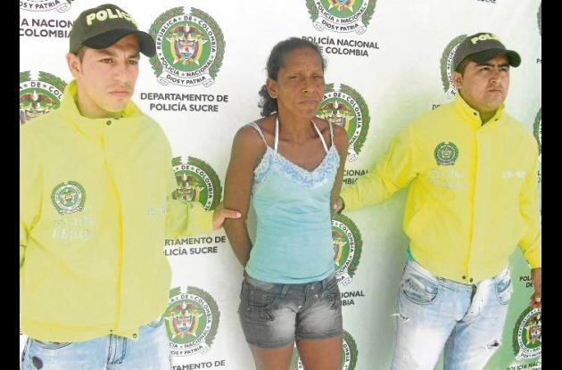 Mary Luz Castillo Hurtado, capturada por hurto.