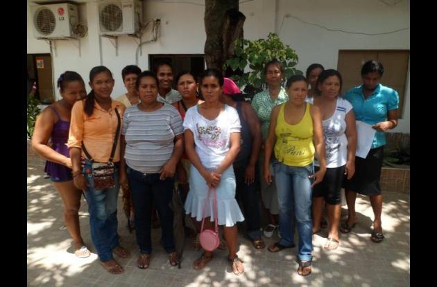 Mujeres beneficiarias de los proyectos Villa Camila y Caimito Uno, en Villanueva
