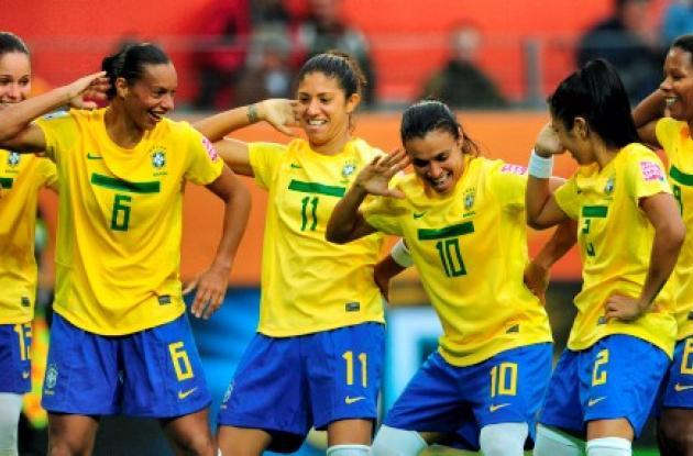 Brasil ganó 3-1 a Noruega de la mano de su estrella Marta.