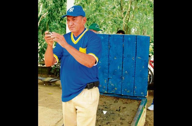 Gabriel Barrios, jugador que se destaca en el evento de tejo.