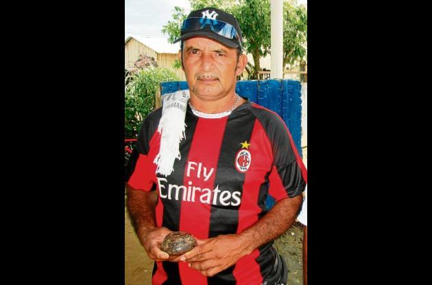 Luis Sierra, jugador de tejo de Mochuelos