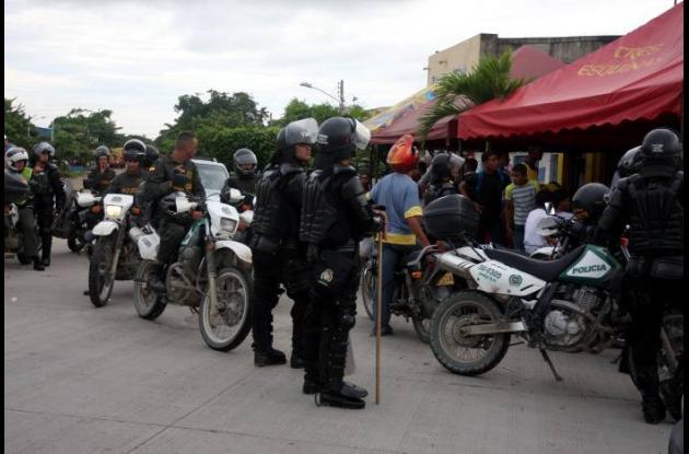 Hinchas del Nacional en Cartagena