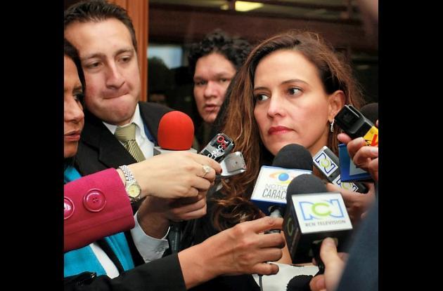 Nancy Patricia Gutiérrez, exsenadora por el partido Cambio Radical.