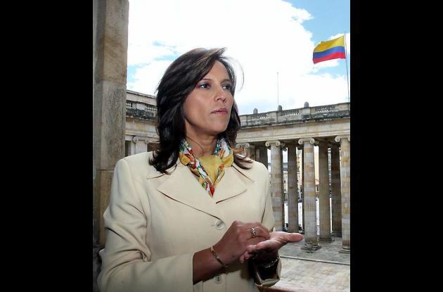 Nancy Patricia Gutiérrez, expresidenta del Congreso.