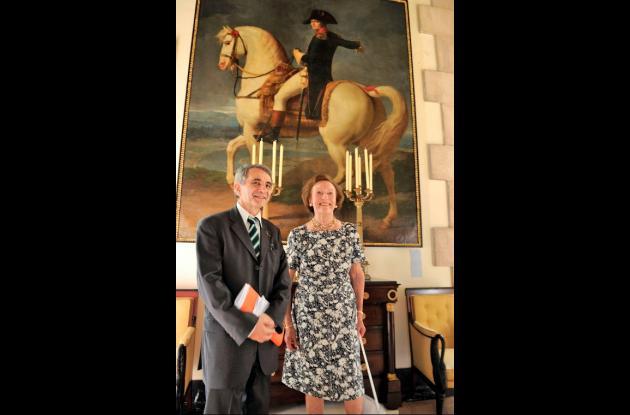 Princesa Alix de Foresta y el embajador de Francia en Cuba Jean Mendelson visita