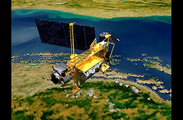 Satélite UARS, que cayó en el océano Pacífico.