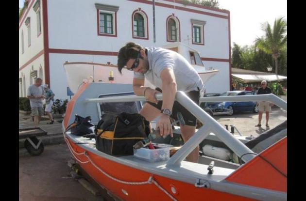 Nicolás Carvajal, colombiano que cruzó a remo el océano Atlántico.