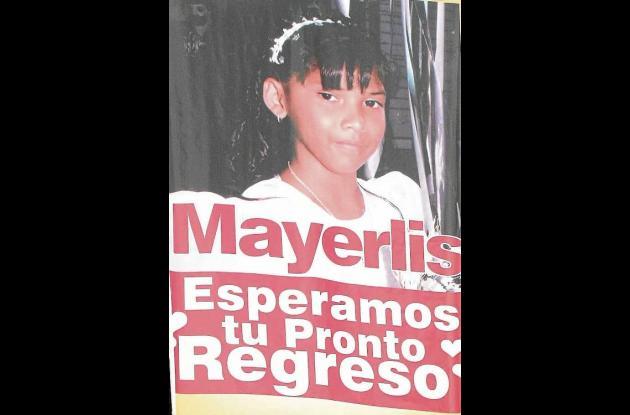 Mayerlis María Blanco Español, niña desaparecida.