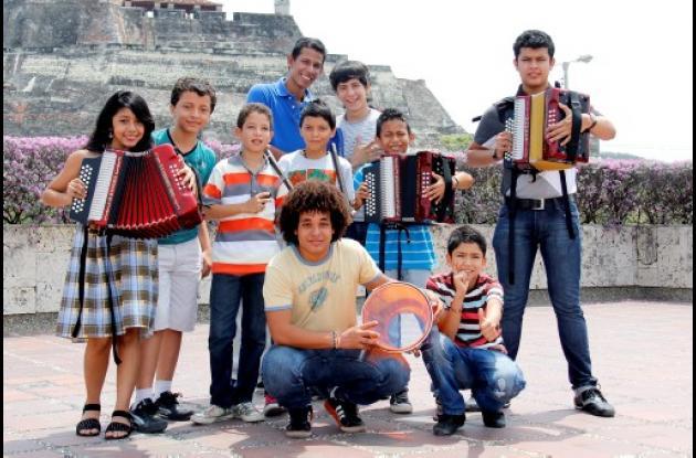 Niños acordeonistas