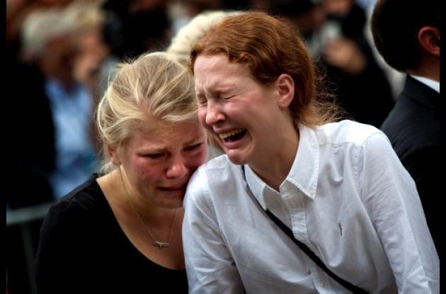 Todo es tristeza en Noruega tras los atentados terroristas.