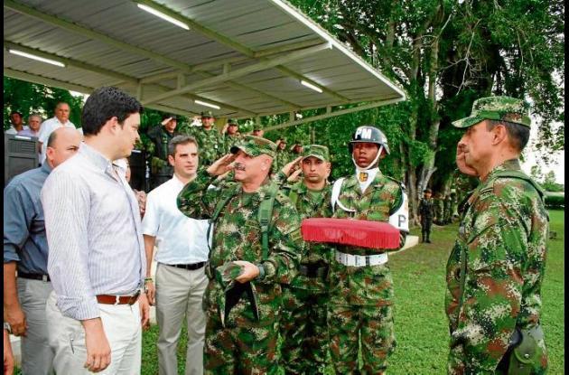 Ceremonia de toma del mando de la Brigada 11 en Córdoba.
